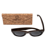 Desi by Woodhoy - Eco friendly wooden sunglasses - Eco Friendly Surf Shop - Bamboo Wood sunglasses with foldable cork carry case