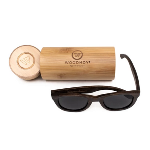 Desi by Woodhoy - Eco friendly wooden sunglasses - Eco Friendly Surf Shop - Bamboo Wood sunglasses with round carry case
