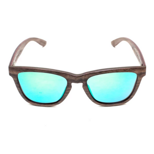 Valentino by Woodhoy - Eco friendly wooden sunglasses - eco friendly surf shop - wood sunglasses Front on view