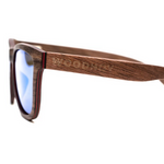 Valentino by Woodhoy - Eco friendly wooden sunglasses - eco friendly surf shop - wood sunglasses side on view