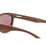 Valentino by Woodhoy - Eco friendly wooden sunglasses - eco friendly surf shop - wood sunglasses inside frame view