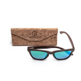 Valentino by Woodhoy - Eco friendly wooden sunglasses - eco friendly surf shop - wood sunglasses with foldable cork carry case