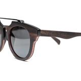 Insoliti Sospetti by Woodhoy - Eco friendly wooden sunglasses - eco friendly surf shop - Side on view