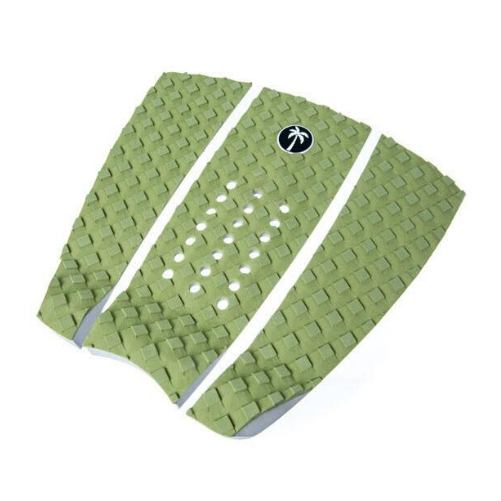 Surf Organic green Tail Pad with white logo - Eco Friendly Surf Shop - sustainable surf gear - sustainable surfing - surf organic recycled eva foam tail pad