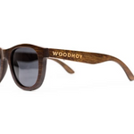 Desi by Woodhoy - Eco friendly wooden sunglasses - Eco Friendly Surf Shop - Bamboo Wood sunglasses Side on view