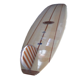 Classic Malibu Longboard by Riley Balsawood Surfboards Bottom view with D fin - Eco Friendly Surf Shop