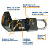 Surf Lock - Car Key Security Padlock - Opened with keys inside with descriptions - Eco Friendly Surf Shop