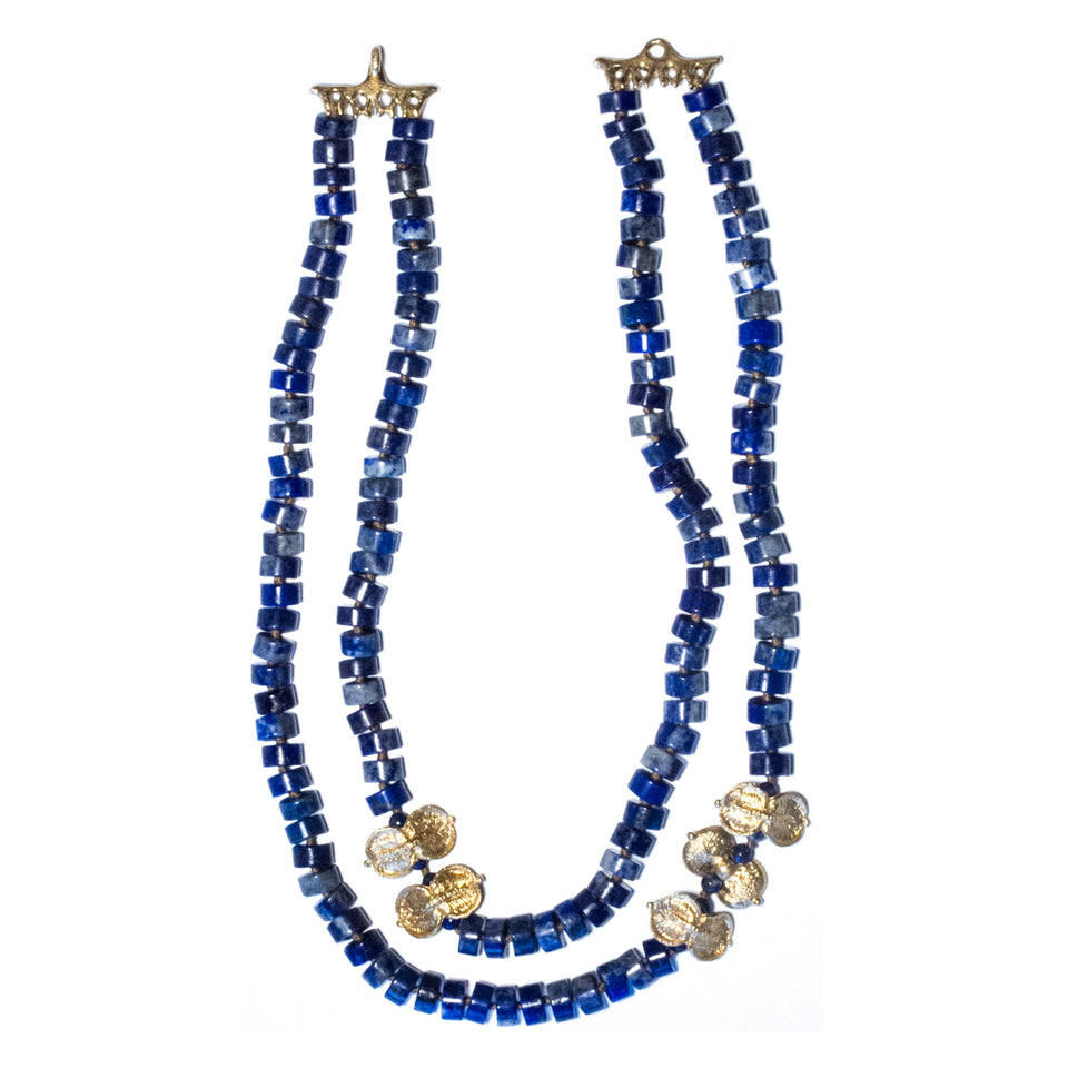 Lapis & Sweet Pittosporum Necklace
