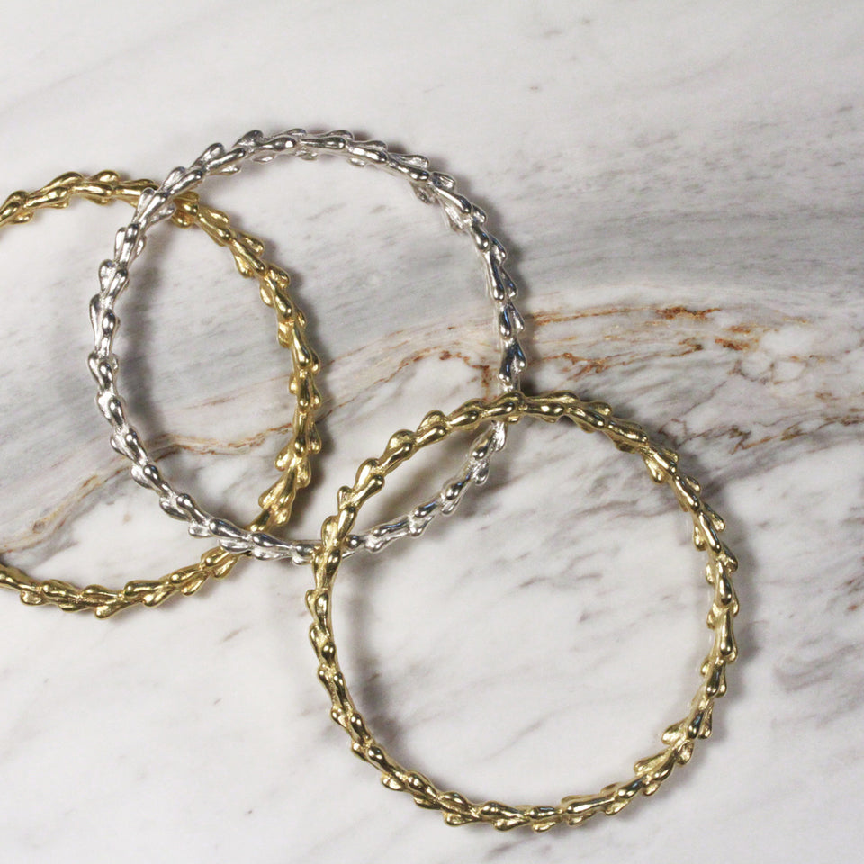 Willow Bangle - Brass
