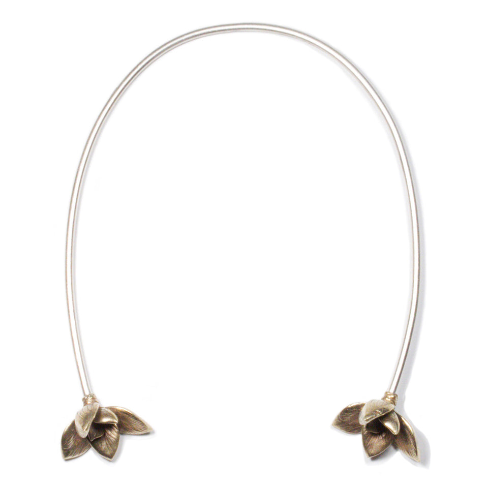 Bloom Neck Cuff - Brass
