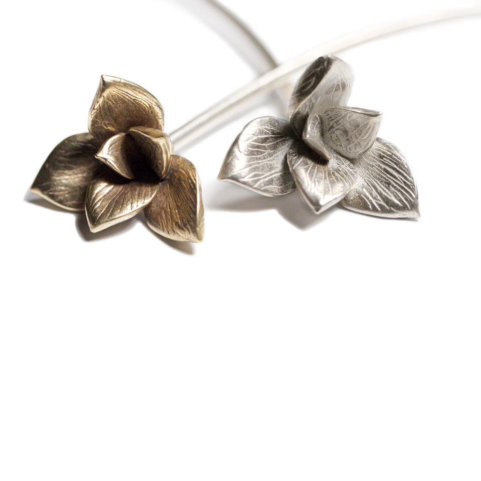 Bloom Neck Cuff - Silver