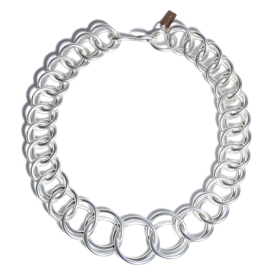 XLarge Half Persian Chain Necklace - Silver