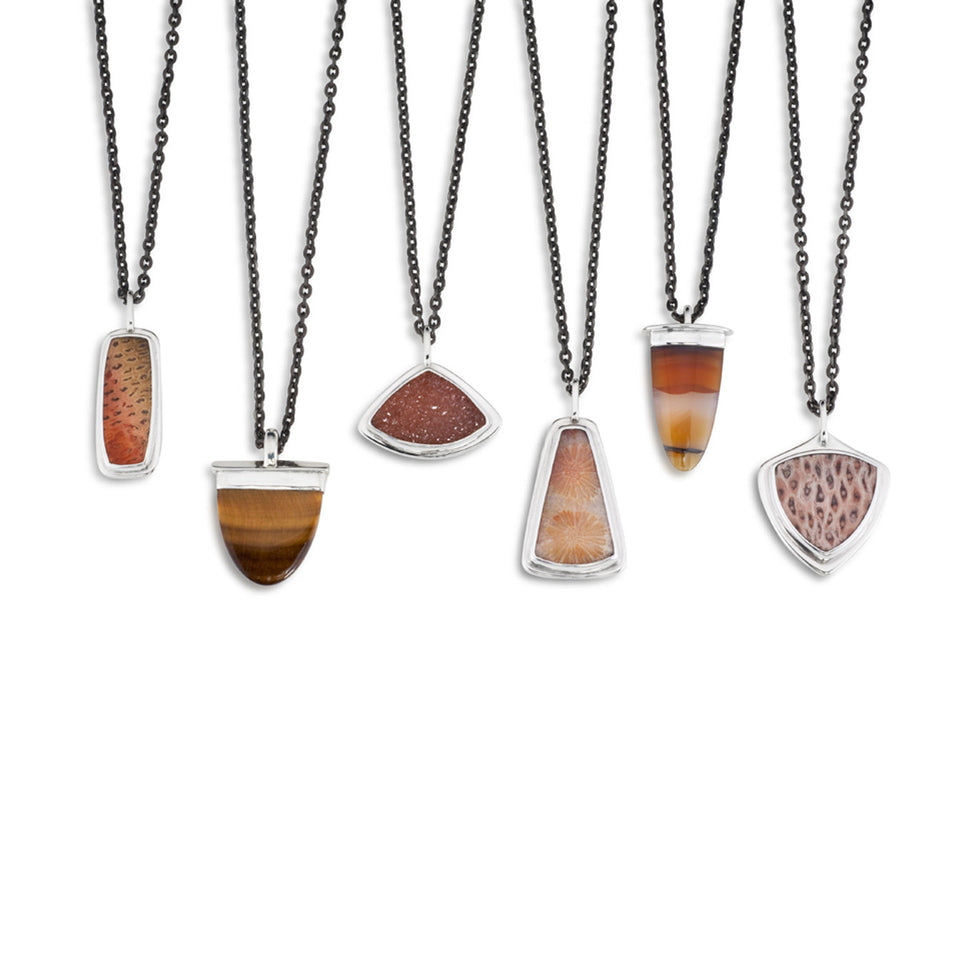 Stone and Fossil Pendants