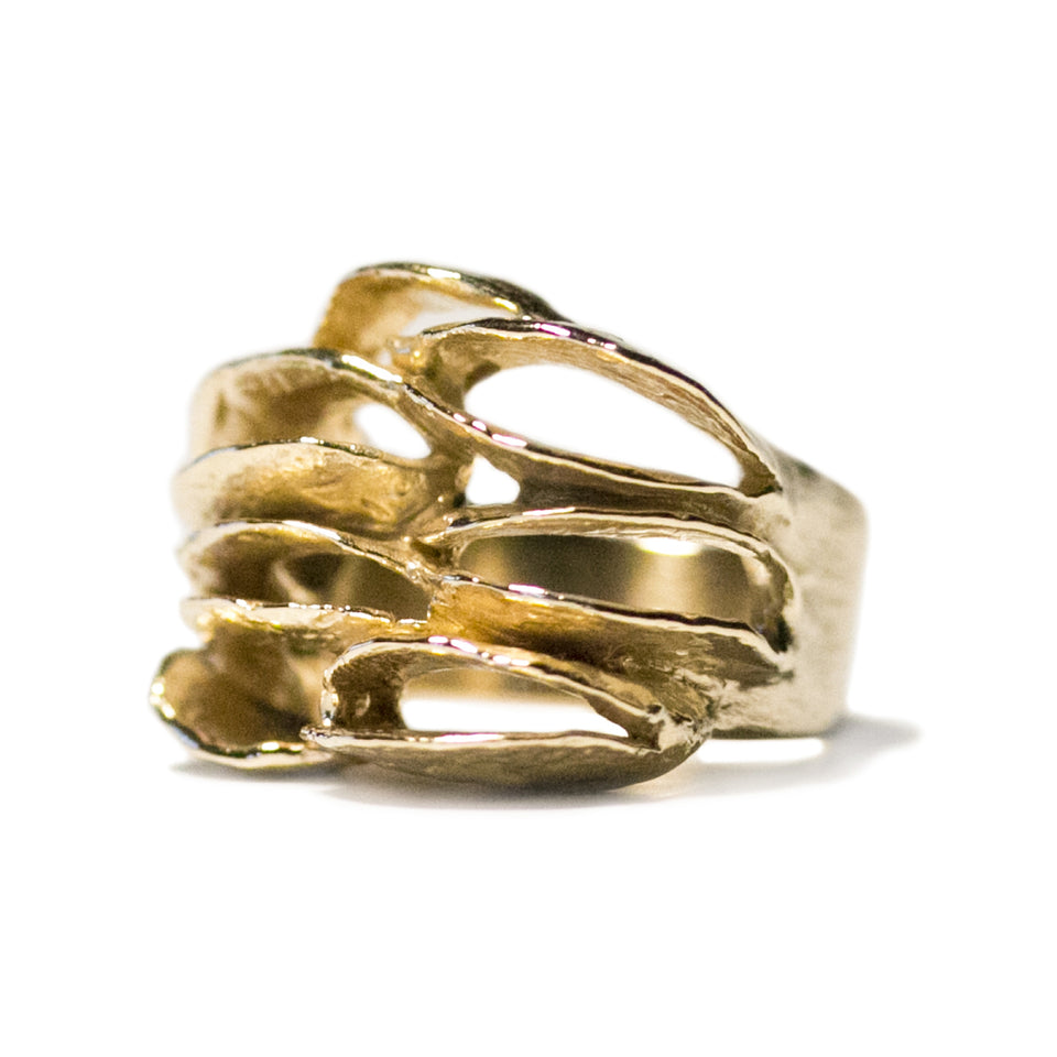 Banksia Half Band Ring - Gold