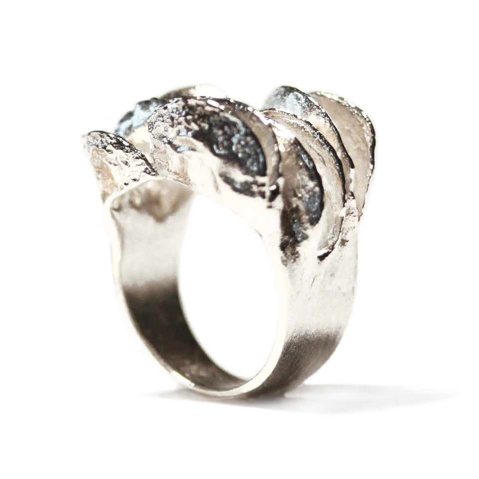 Banksia Half Band Ring - Silver