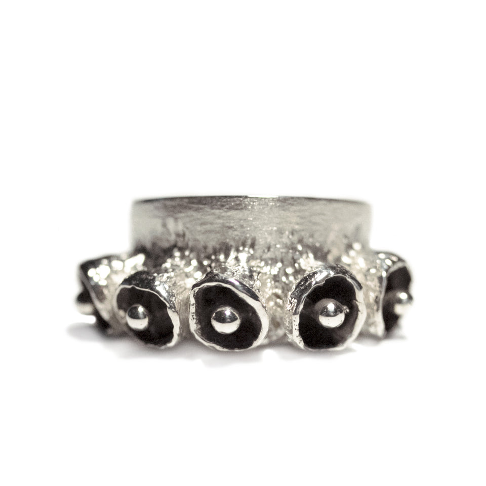 Bell Pod Ring - Silver