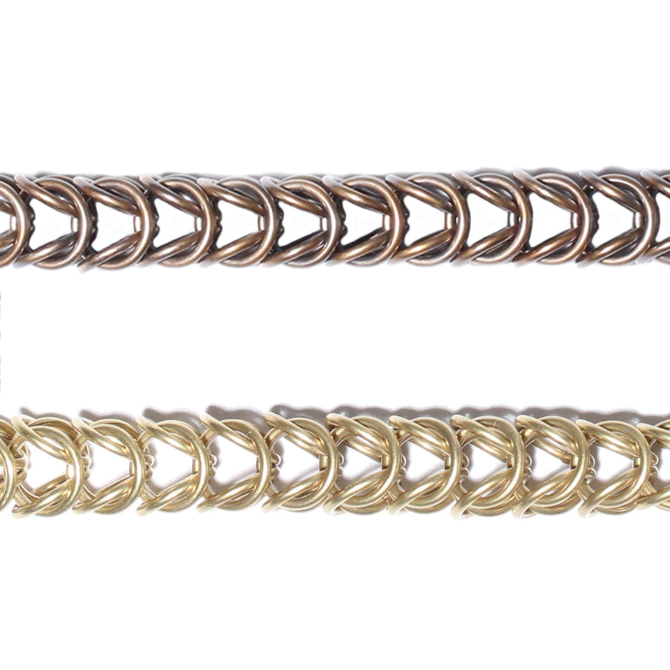 Long Multi Link Box Chain Necklace