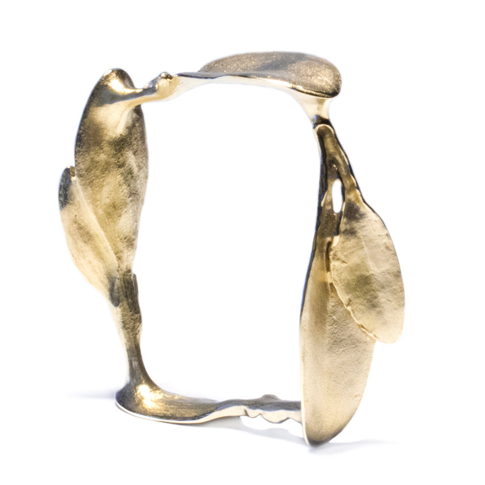 Square Leaves Bracelet - Brass