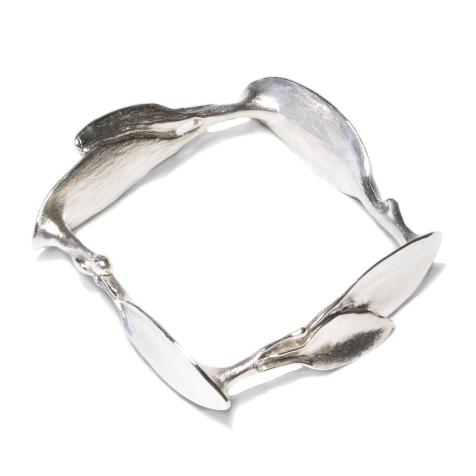 Square Leaves Bracelet - Silver