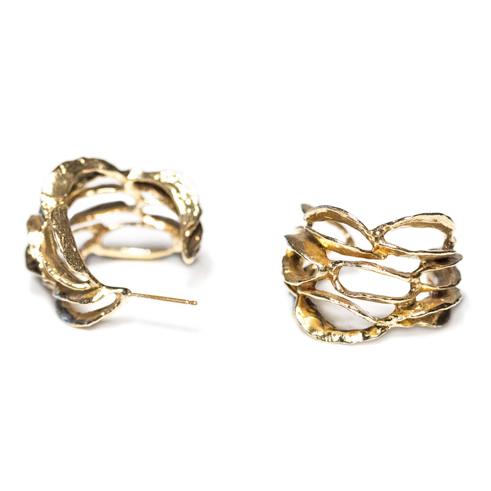Banksia Hoop Earrings - Gold