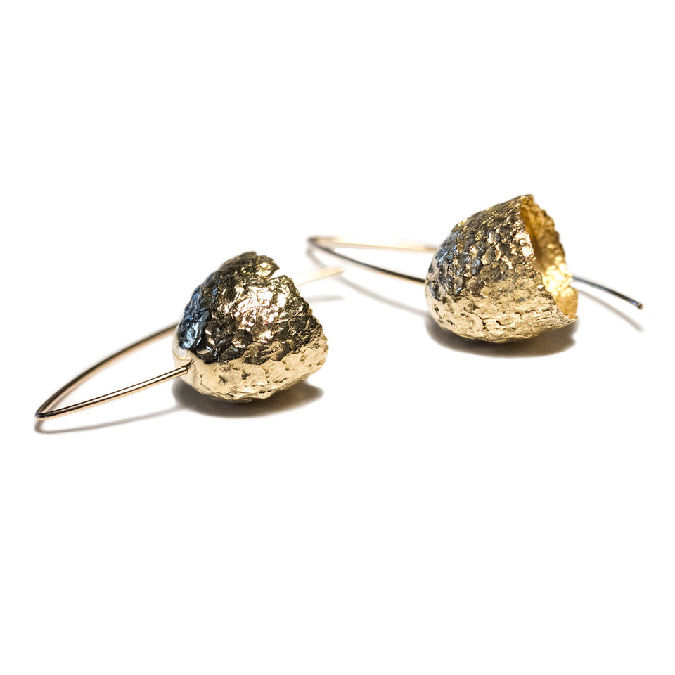 Capule Earrings - Yellow Bronze