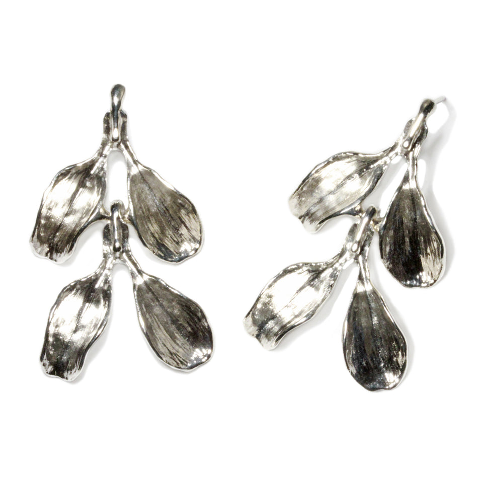 Dyad Two Tier Earrings - Silver