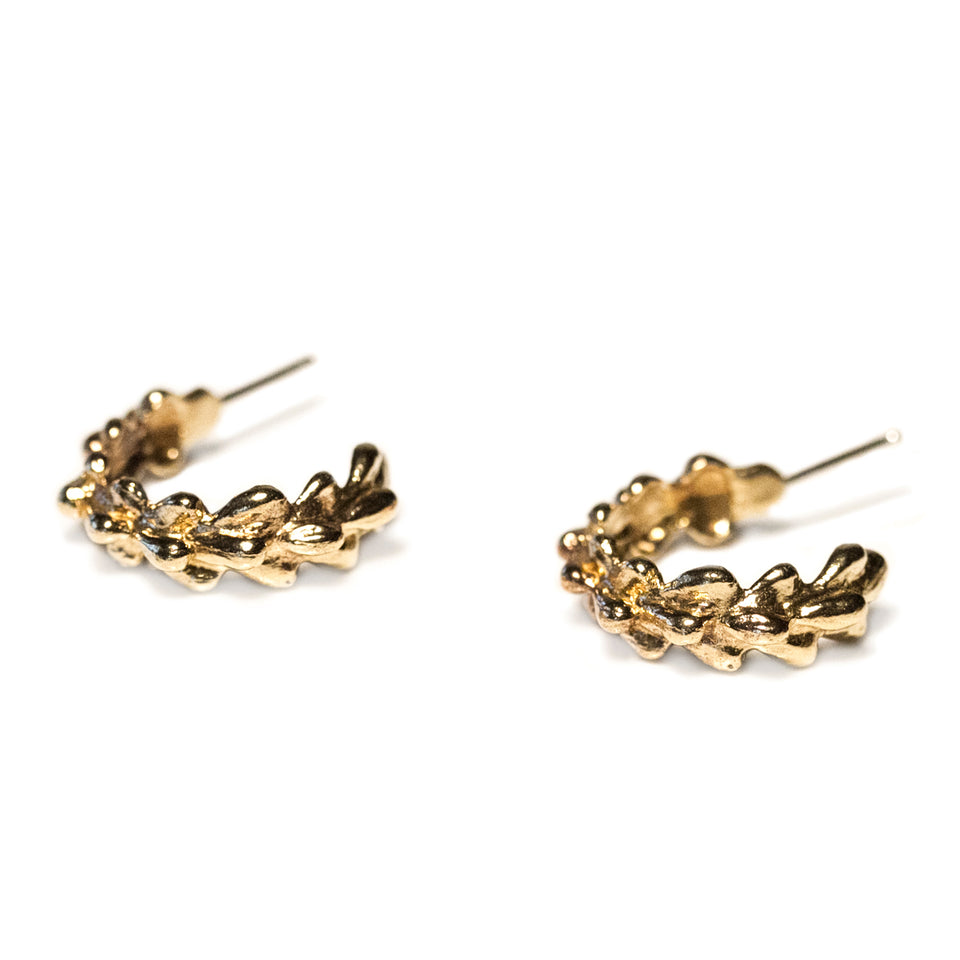 Willow Hoop Earrings - Yellow Bronze