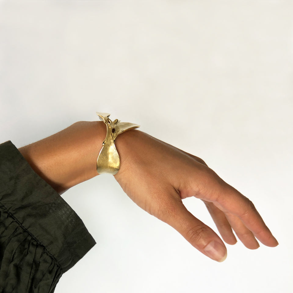 Leaves Cuff Bracelet - Brass