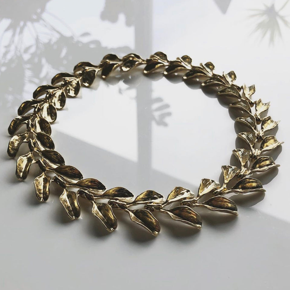 Dyad Link Necklace - Yellow Bronze