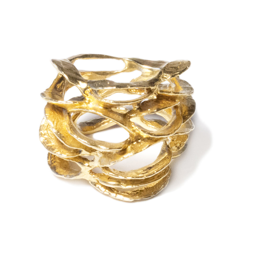 Banksia Lace Ring - Gold
