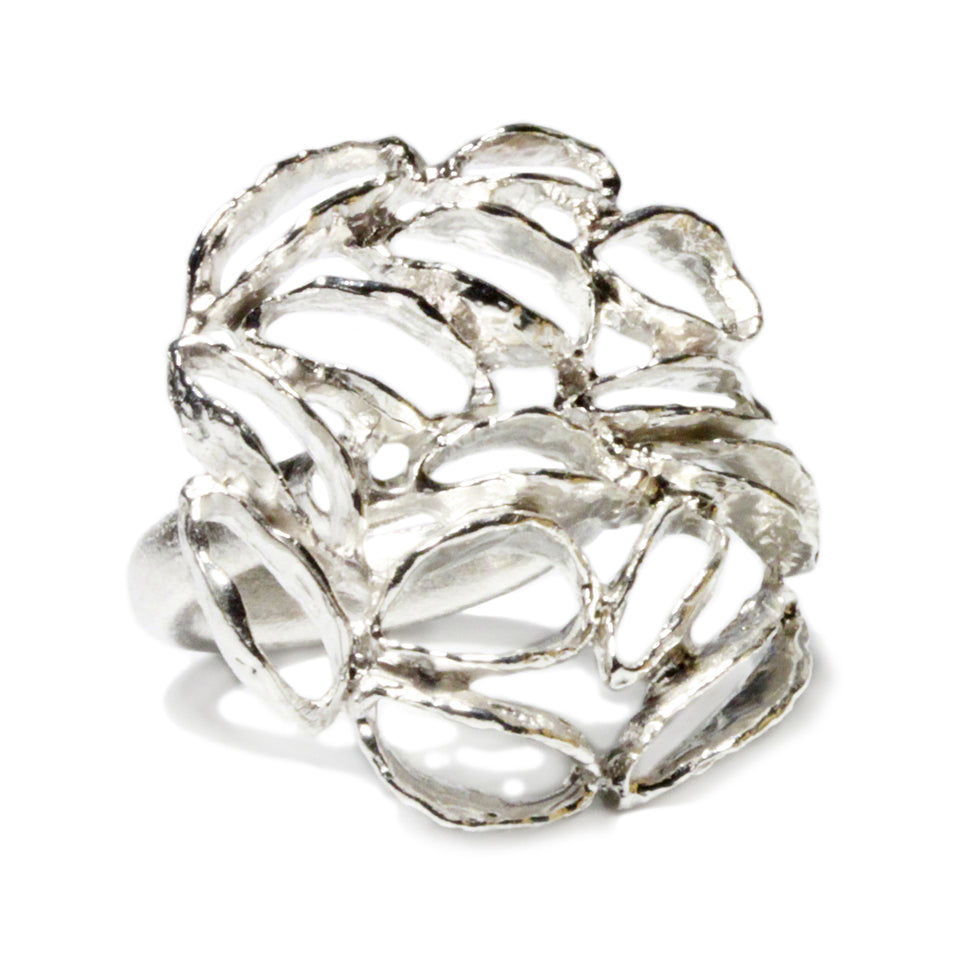 Banksia Medallion Ring - Silver