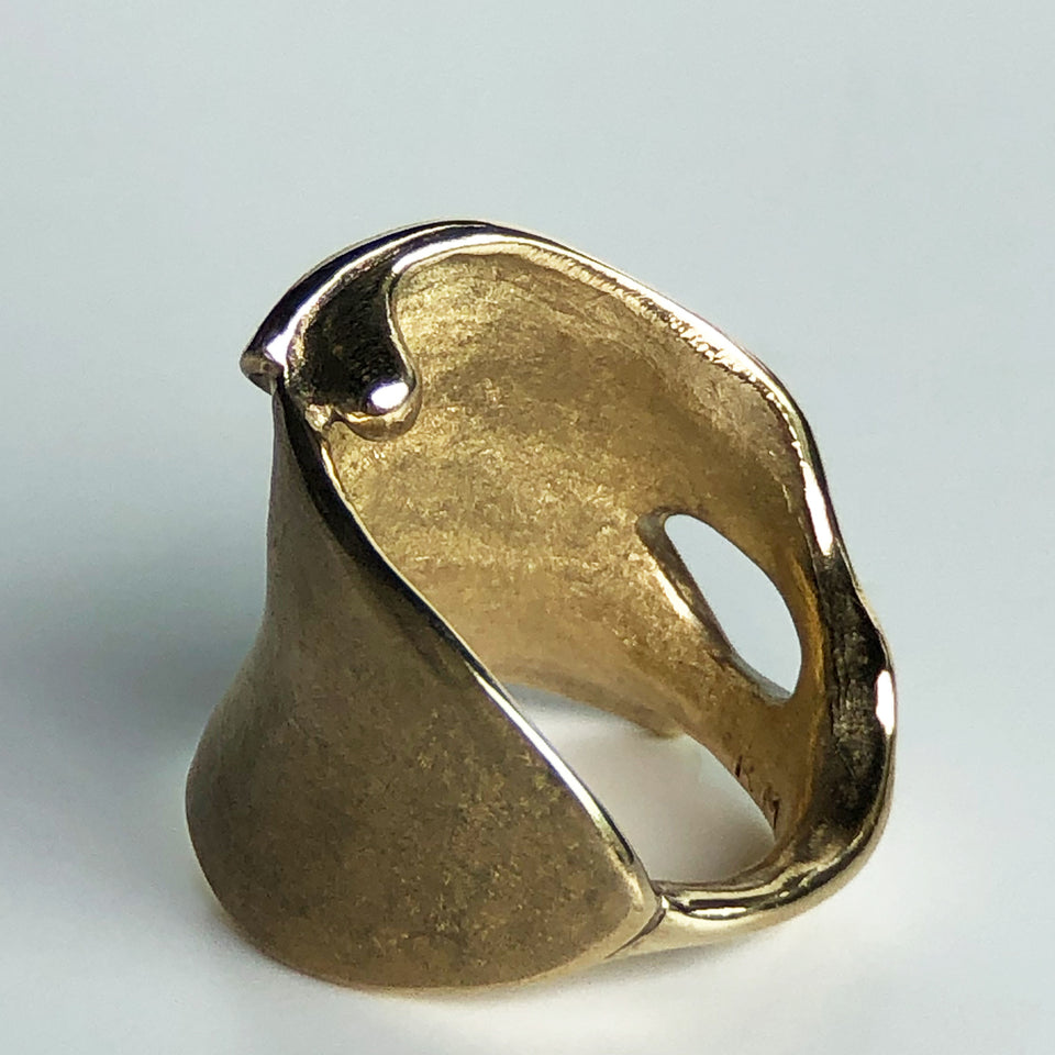 Leaves Ring - Yellow Bronze