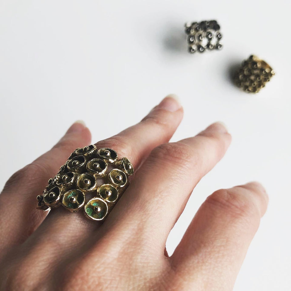 Mosaic Ring - Yellow Bronze