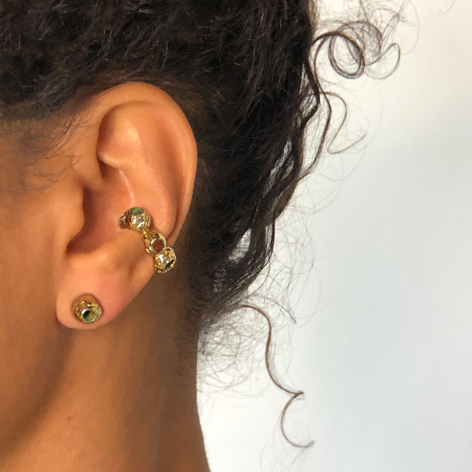 Callistemon Ear Cuff - Brass