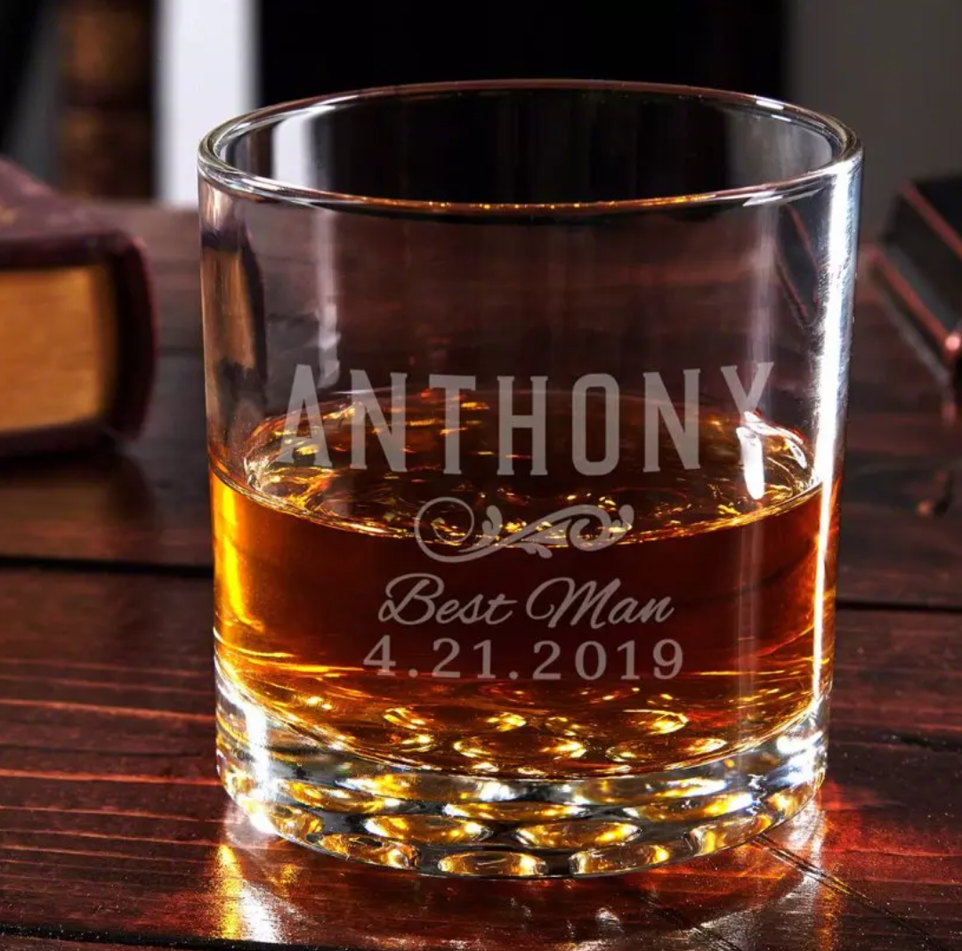 Personalized Bachelor Party Gift Glas