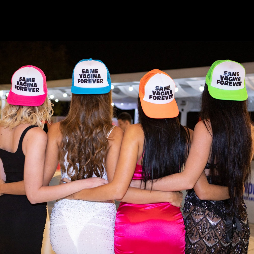 Lesbian Bachelorette Party Hats (4 PACK) - Same Vagina Forever
