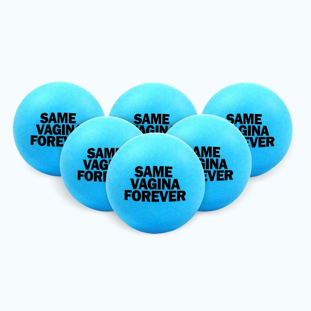 Bachelor Party Beer Pong Blue Balls – 6 Pack – Funny Stag Party Decorations, Ideas and Supplies - Same Vagina Forever
