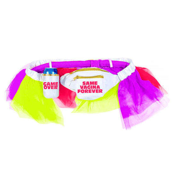 Bachelor Party Groom Tutu and Fanny Pack - Same Vagina Forever