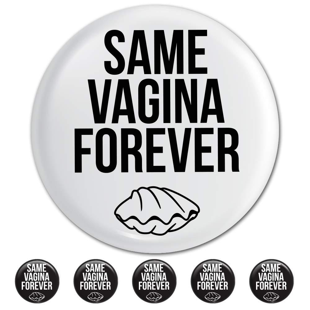 Lesbian Bachelorette Party Button Pins (6 Pack) - Same Vagina Forever