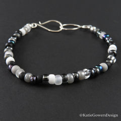 Black and white beaded bracelet by katie gowers design