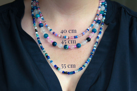 Necklace lengths cm on Katie Gowers Design