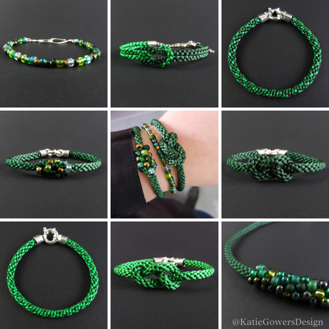Handmade Green Jewellery Mix and Match Grid