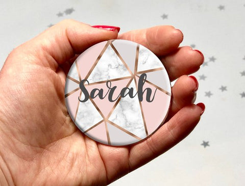 Personalised compact mirror from amy lucy designs on etsy