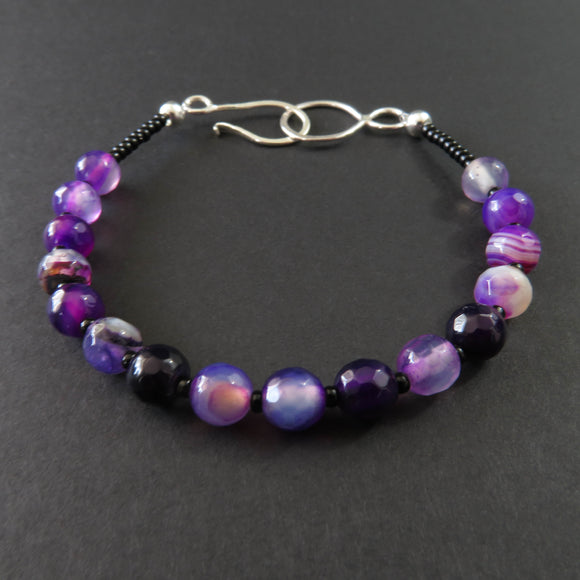 Gemstones - Purple Agate bracelet