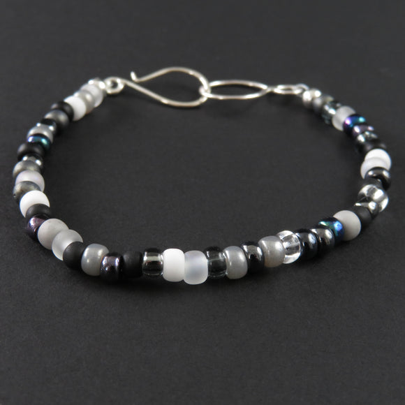 Beaded Bracelet - Black and White