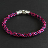 Braided bracelet - Pink/ dark blue