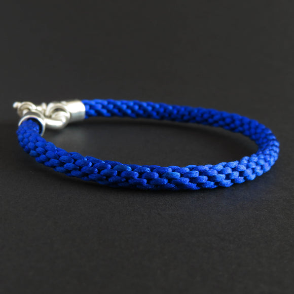 Braided bracelet - Azure blue