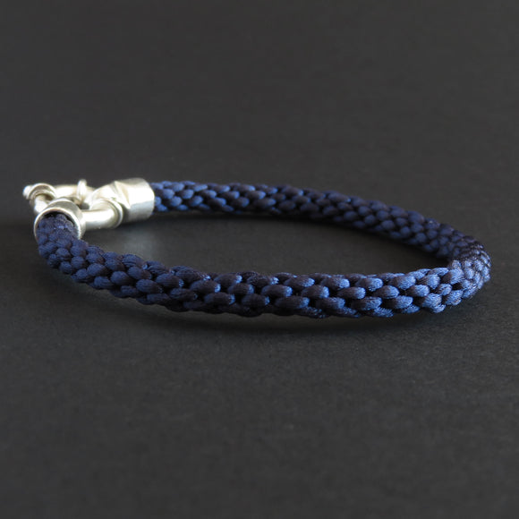 Braided bracelet - Dark blue