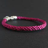 Braided bracelet - Raspberry pink