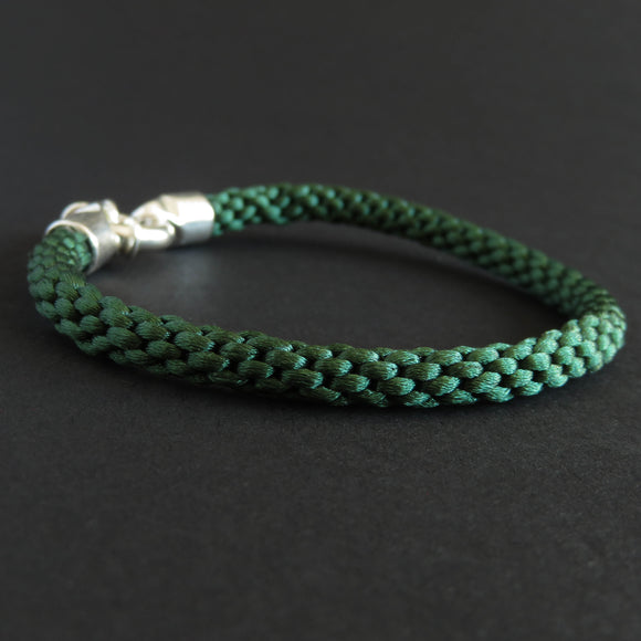 Braided bracelet - Emerald green